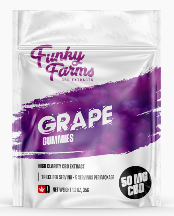 Funky Farms Grape Gummies
