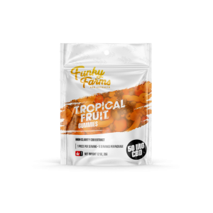 Funky Farms CBD: Tropical Fruit Gummies featuring 10mg of CBD in EACH Gummy!