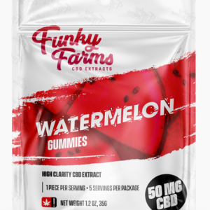 Funky Farms CBD: Watermelon Gummies featuring 10mg of CBD in EACH Gummy!