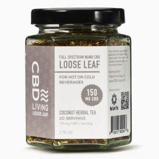 CBD Tea Loose Leaf Coconut CBD Living