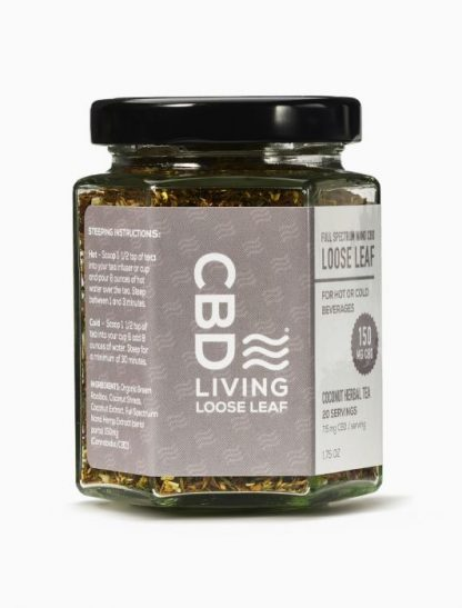 CBD Tea from CBD Living Coconut loose leaf