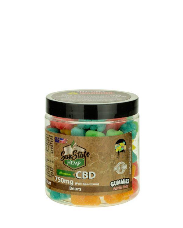 Sun State Hemp Gummies Full Spectrum 750mg Hemp Oil Extract with CBD